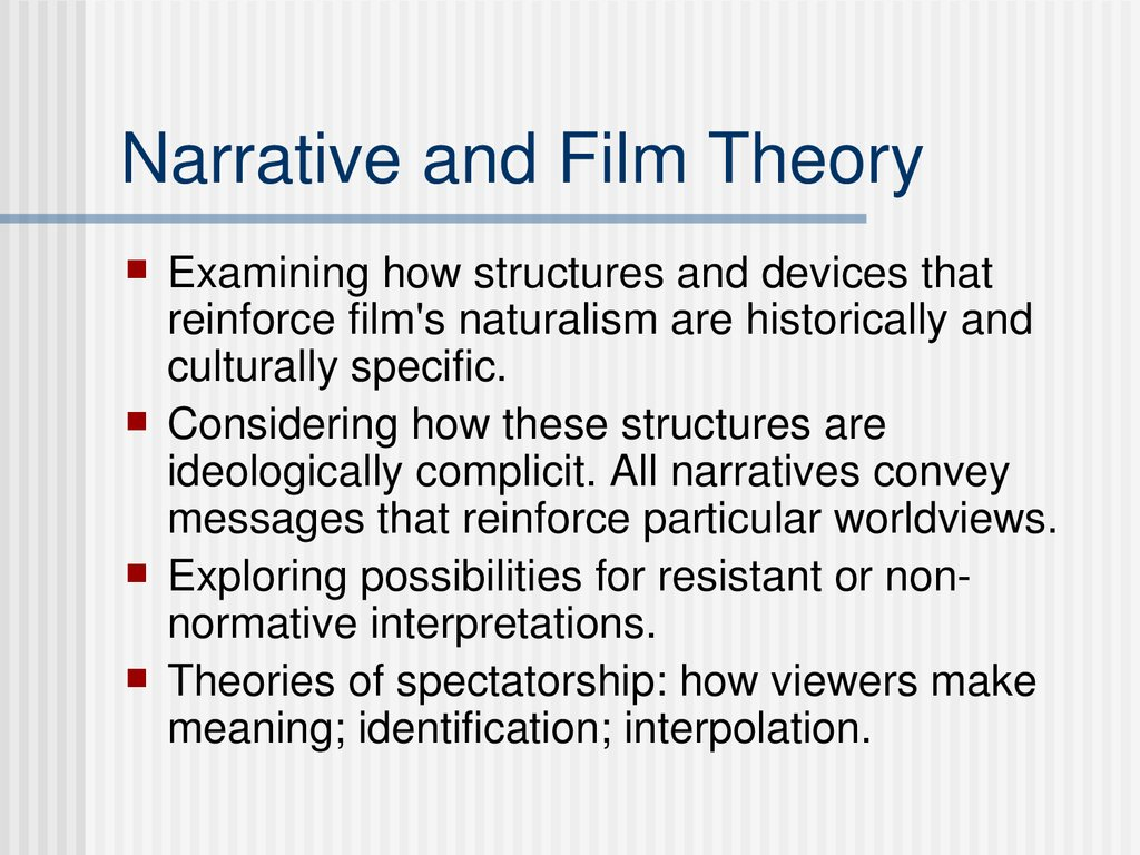 Narrative and Film Theory