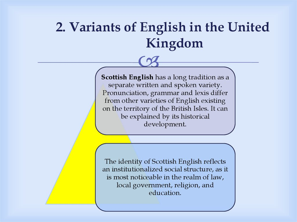 2. Variants of English in the United Kingdom