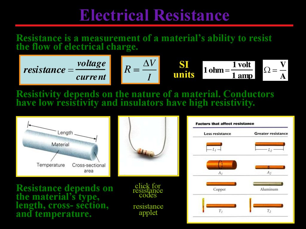 Electrical Circuits 12 Volt Single Battery Wiring Diagram Click To Animate Resistance Is A Measurement Of Materials Ability Resist The Flow Charge Voltage Current