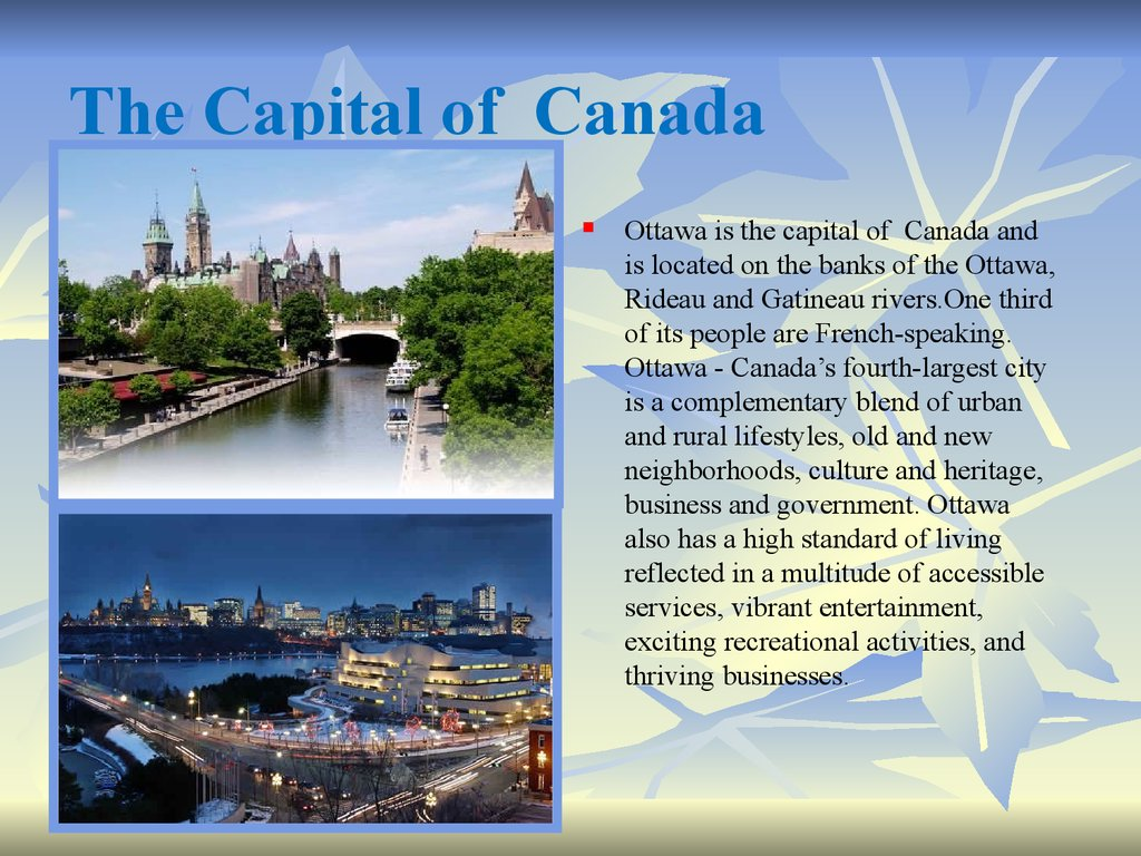 The Capital of Canada