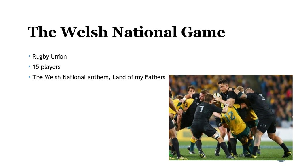 The Welsh National Game
