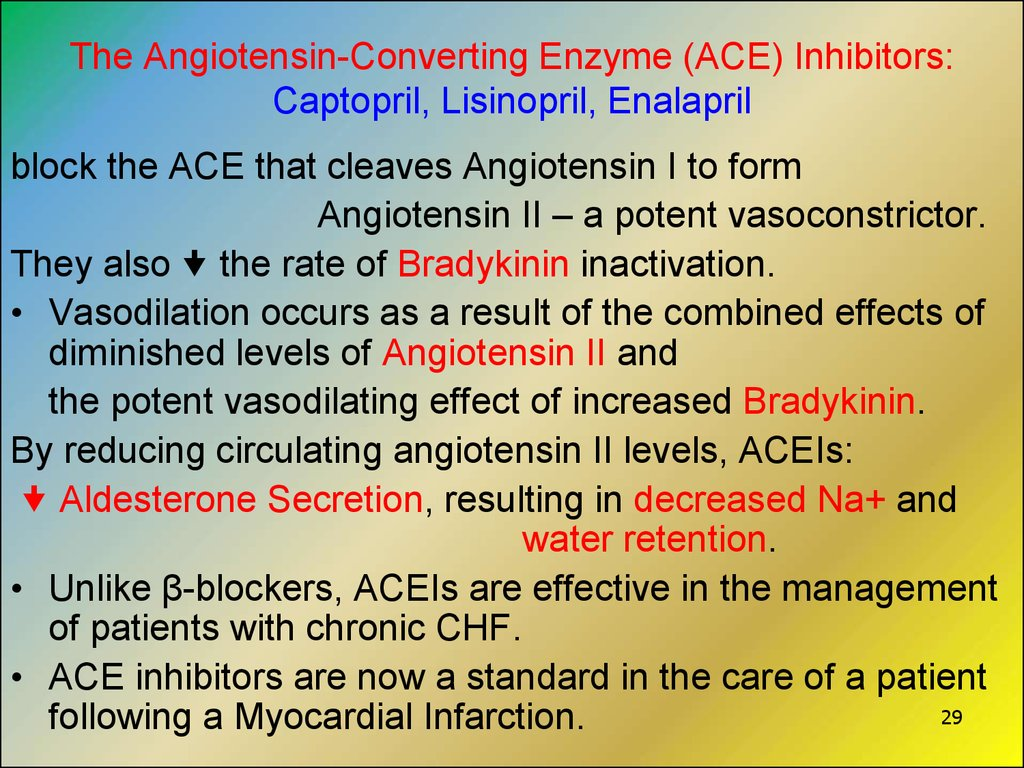 The Angiotensin-Converting Enzyme (ACE) Inhibitors: Captopril, Lisinopril, Enalapril