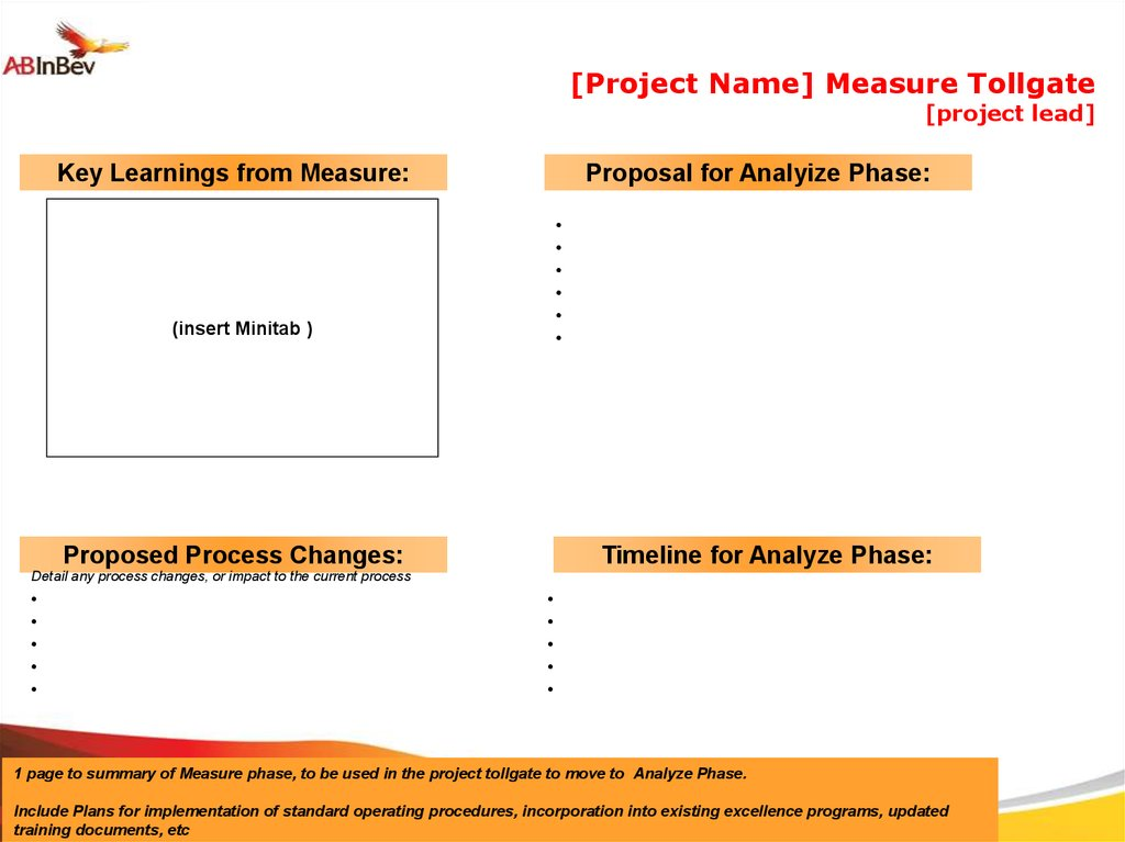 Project templates - online presentation