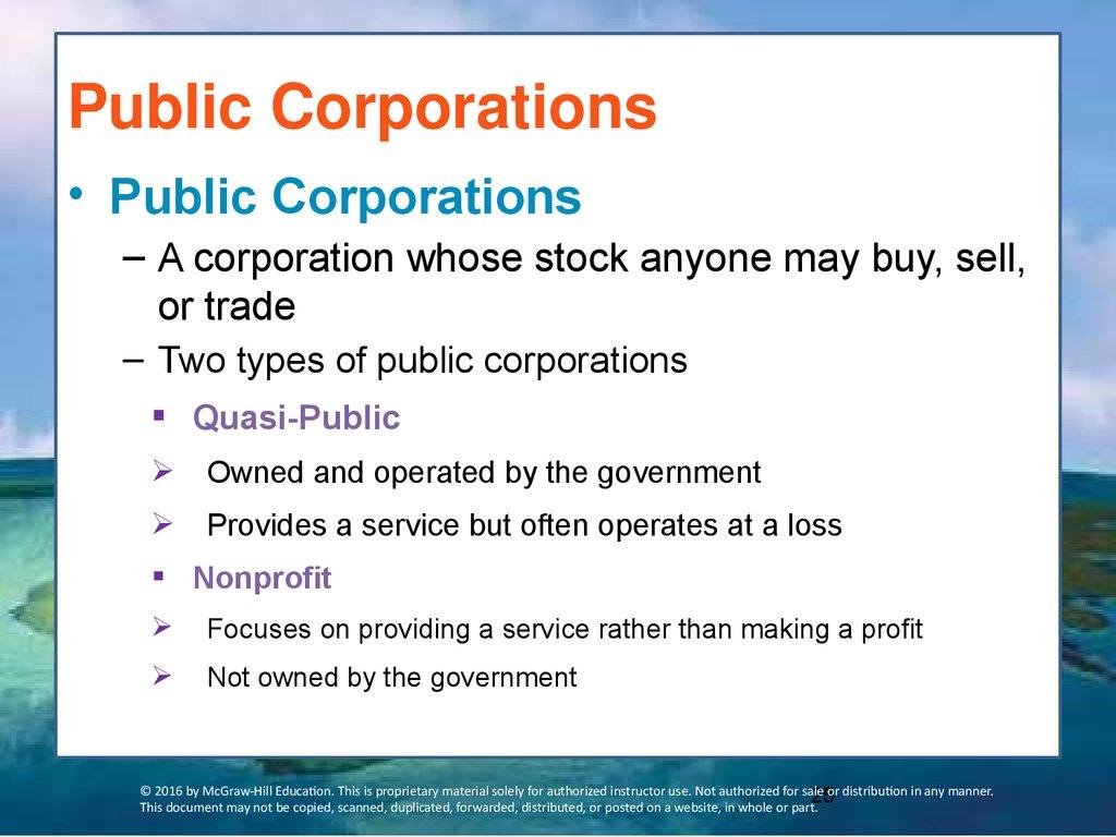 what is public corporation