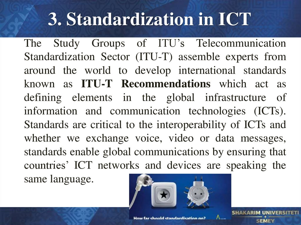 3. Standardization in ICT