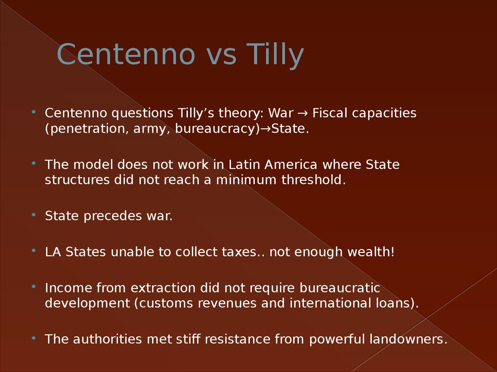 Centenno vs Tilly