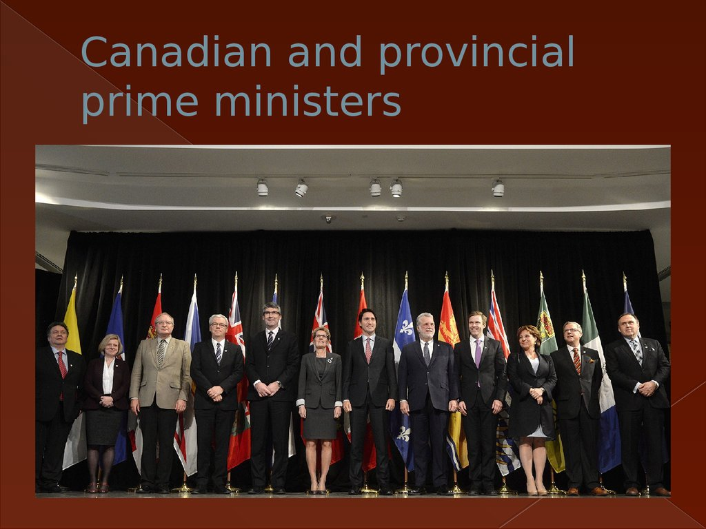 Canadian and provincial prime ministers