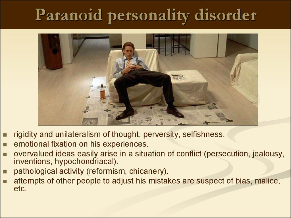 paranoid personality disorder term paper Paranoid personality disorder is a chronic and pervasive condition characterized by disruptive patterns of thought, behavior, and functioning this disorder is thought to affect between 1 to 2 percent of us adults.