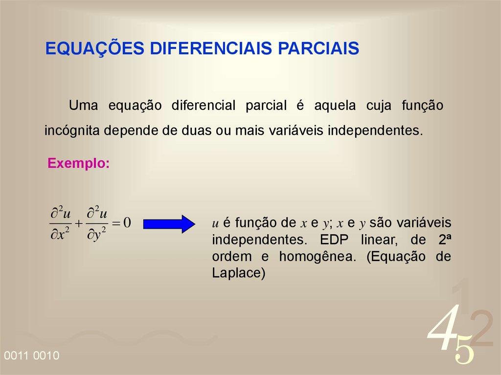 O que é a equação diferencial ordinária