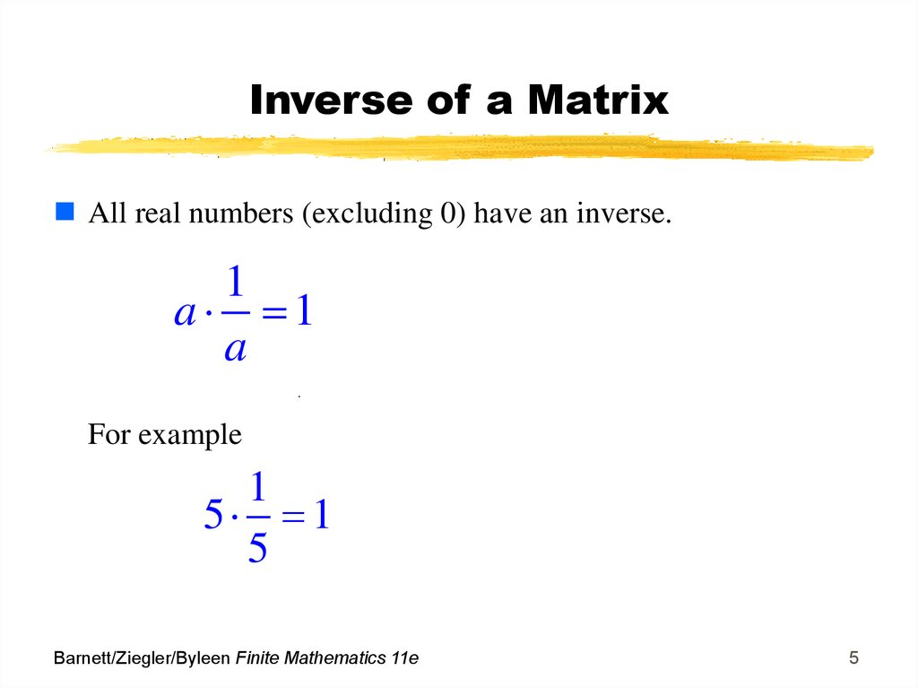 how to find inverse of matrixes