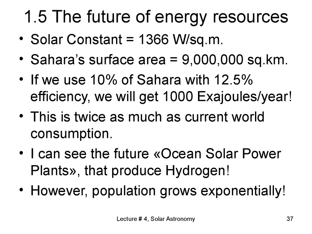 1.5 The future of energy resources