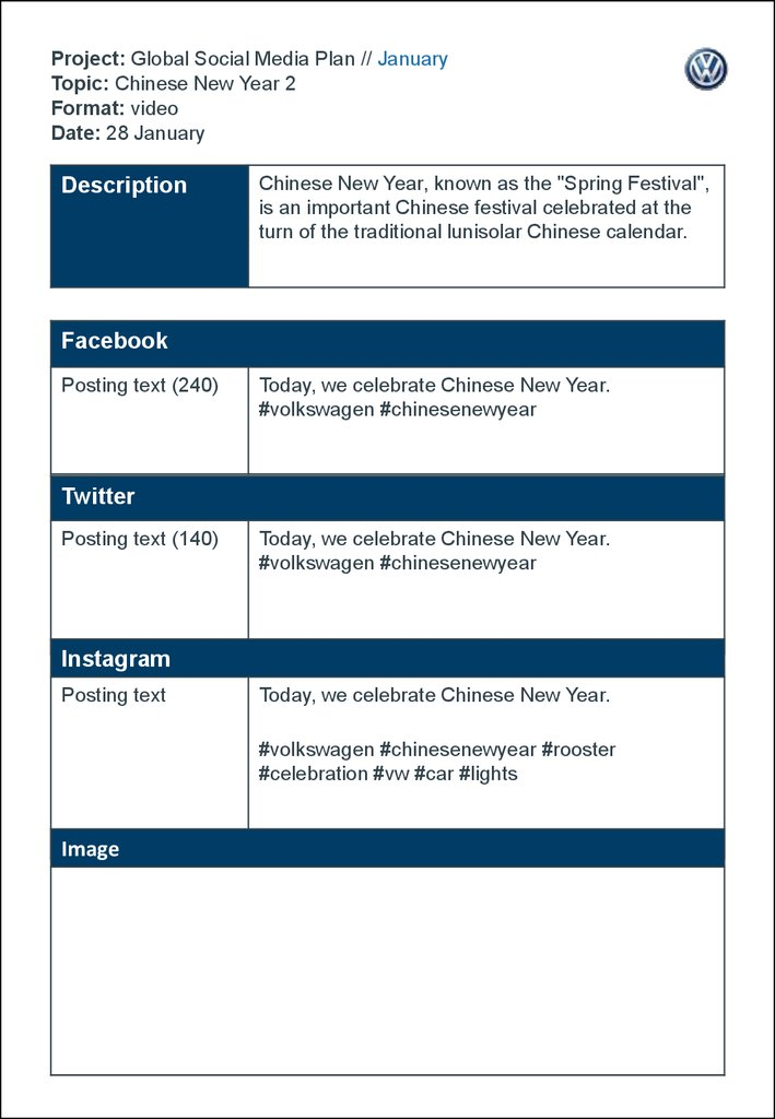 Project Global Social Media Plan January Topic Chinese New Year 2 Format