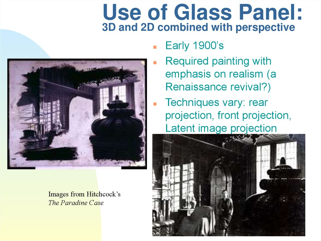 Use of Glass Panel: 3D and 2D combined with perspective