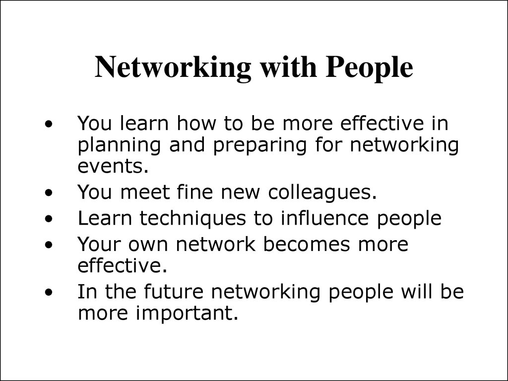 Networking with People