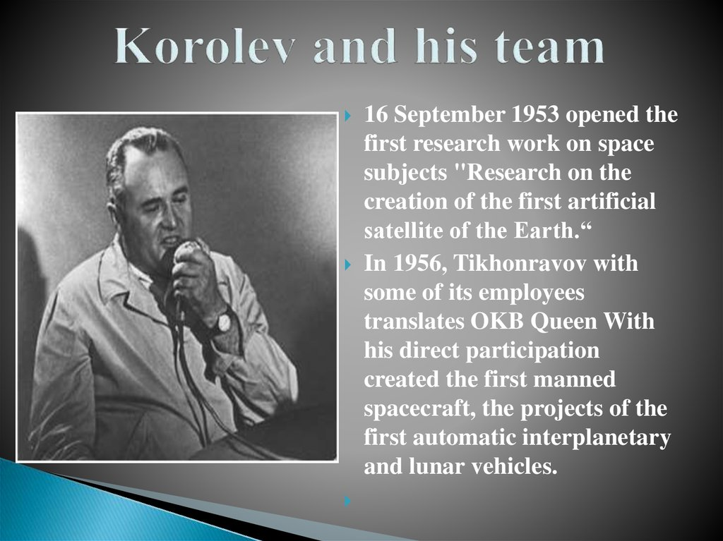 Korolev and his team