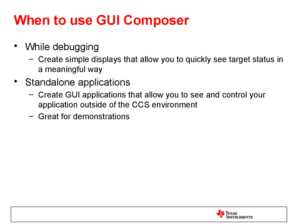 When to use GUI Composer
