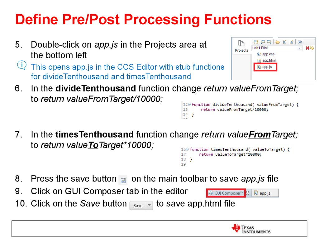 Define Pre/Post Processing Functions