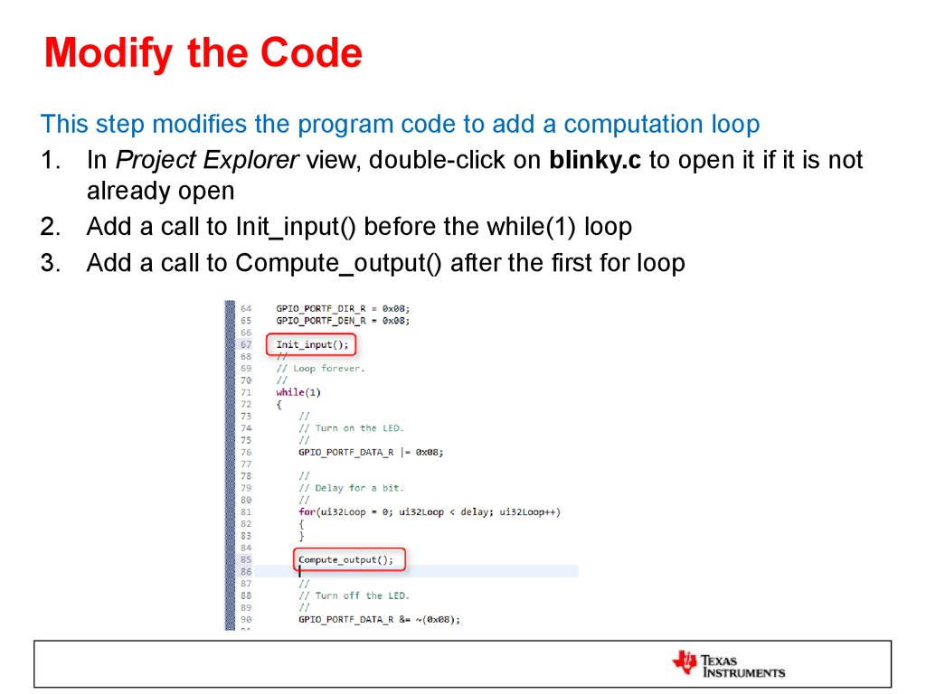 Modify the Code