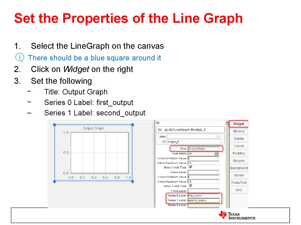 Set the Properties of the Line Graph
