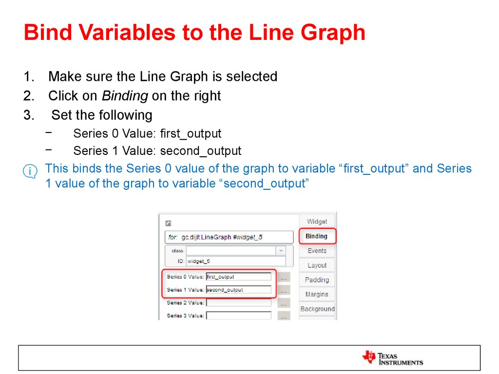Bind Variables to the Line Graph