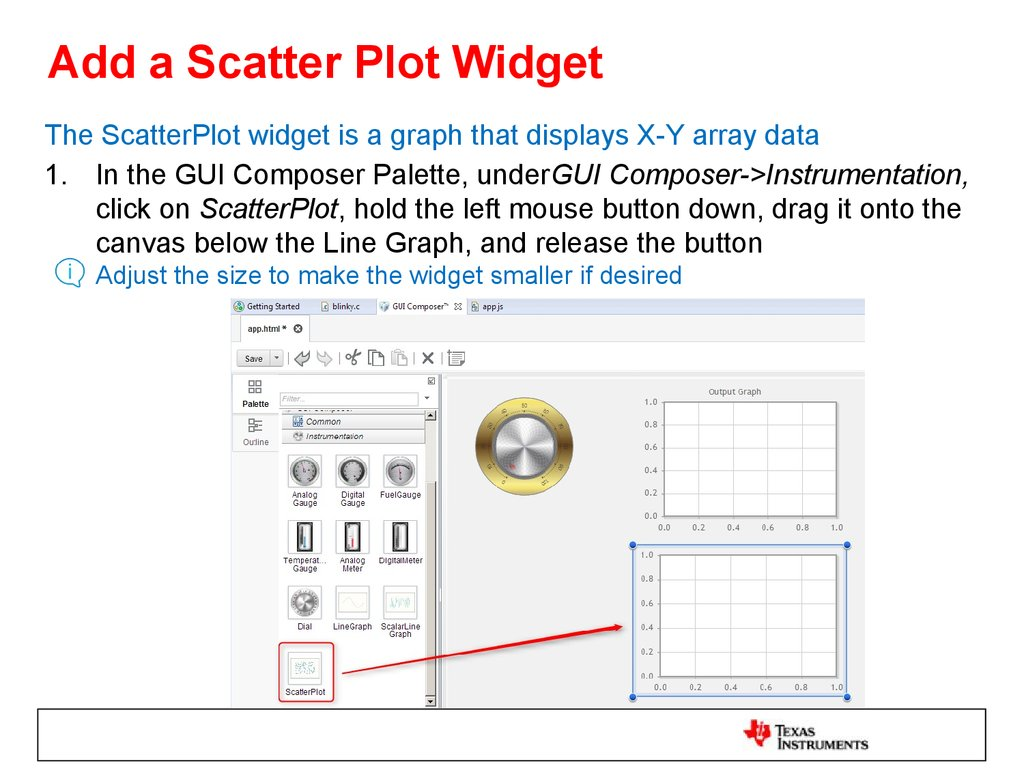 Add a Scatter Plot Widget
