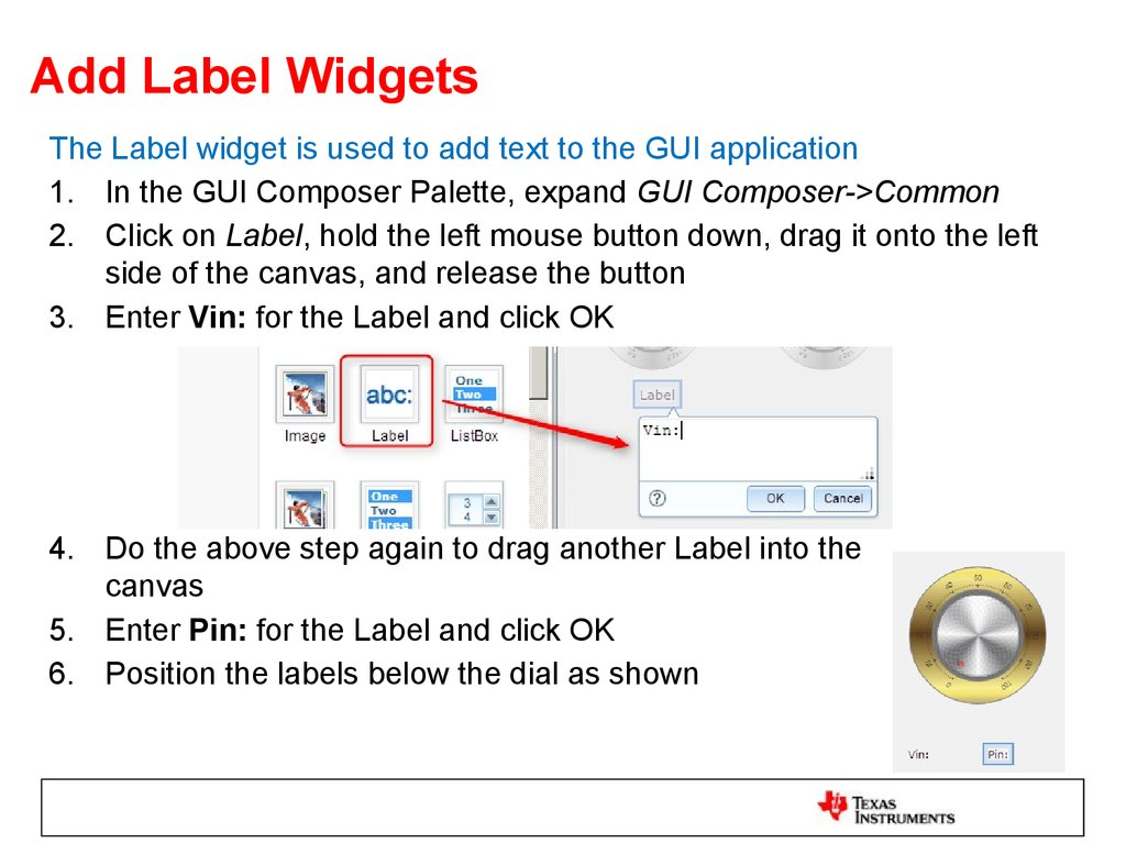 Add Label Widgets