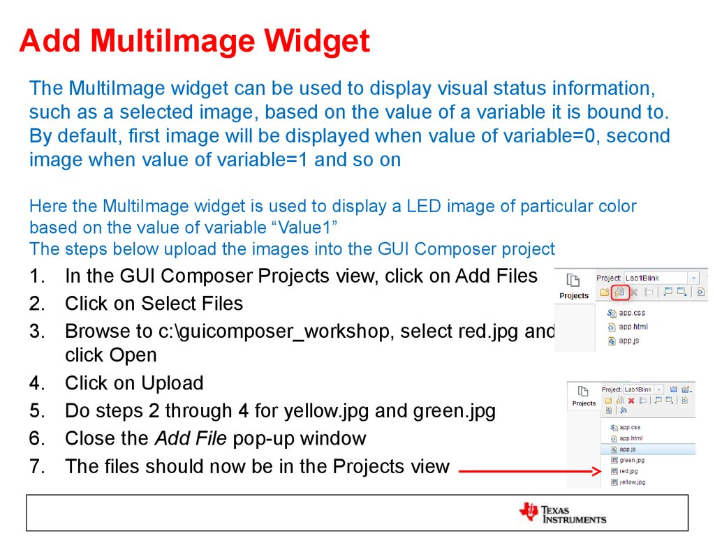 Add MultiImage Widget