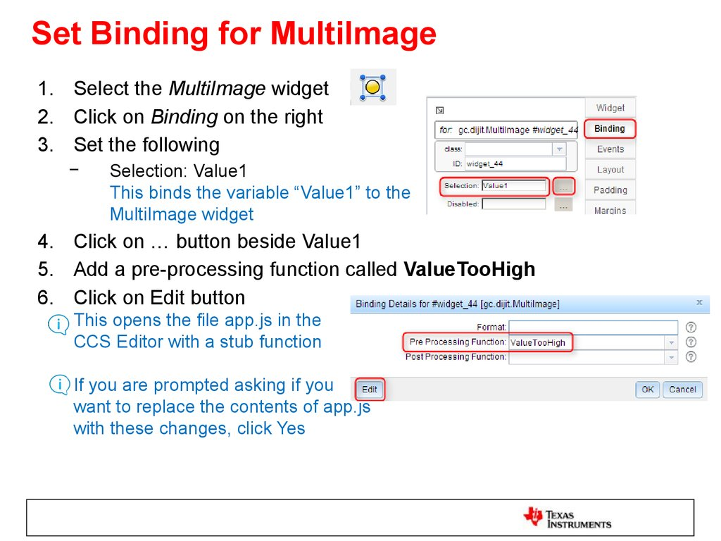 Set Binding for MultiImage