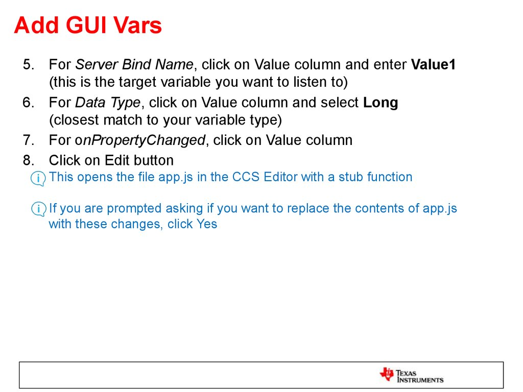 Add GUI Vars