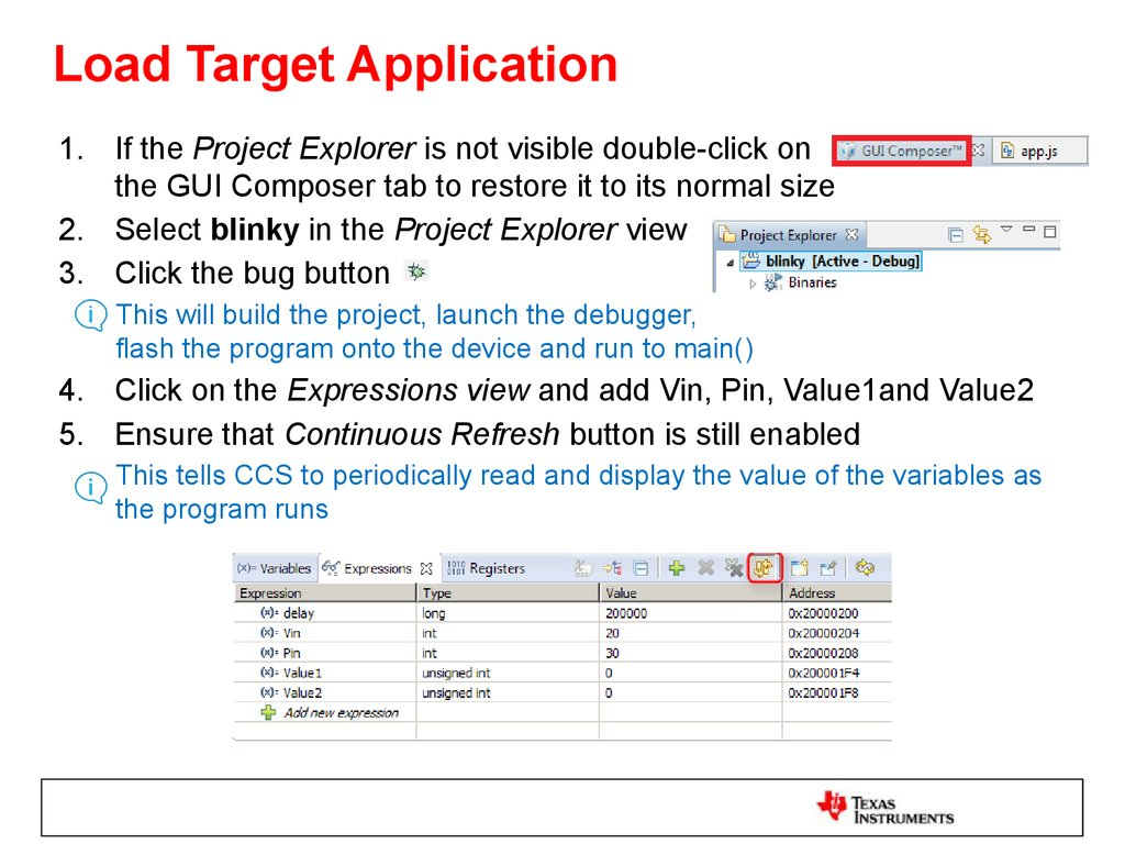 Load Target Application