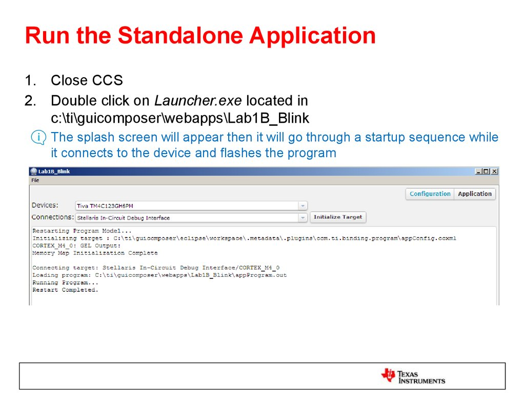 Run the Standalone Application