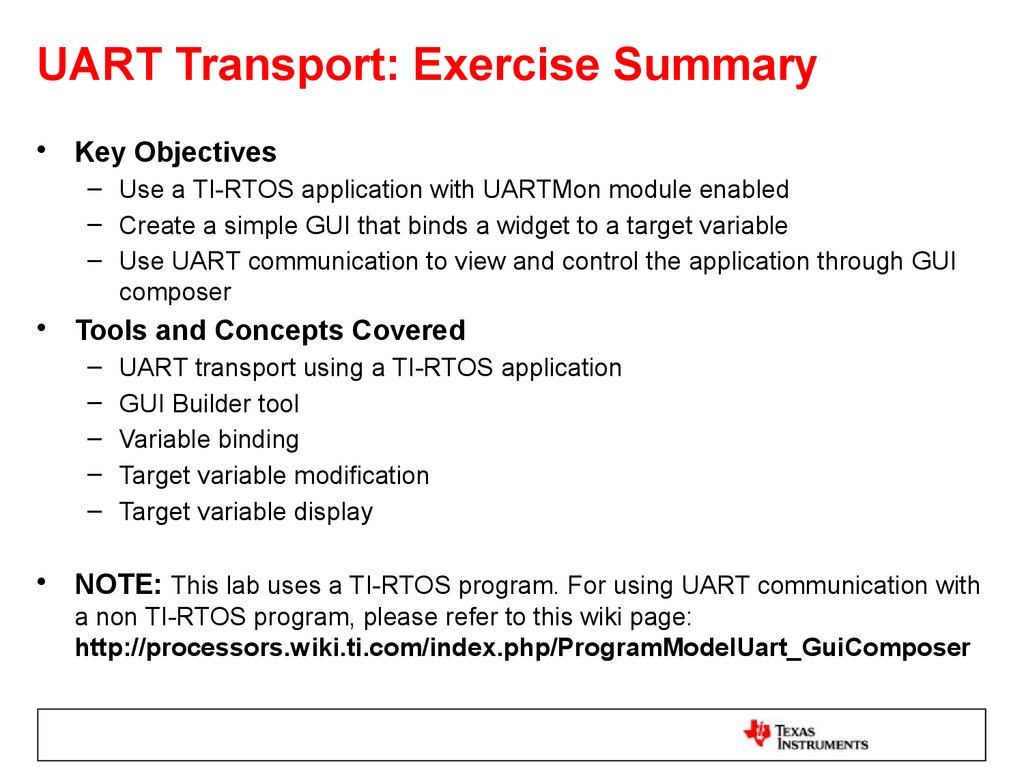 UART Transport: Exercise Summary