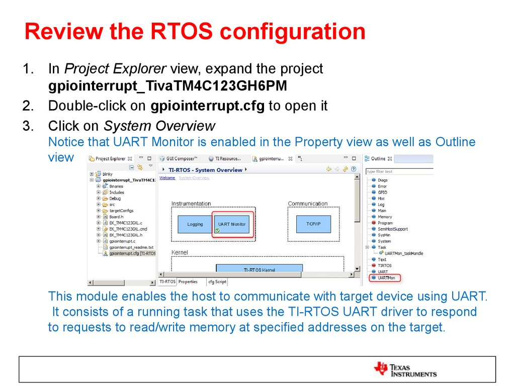 Review the RTOS configuration