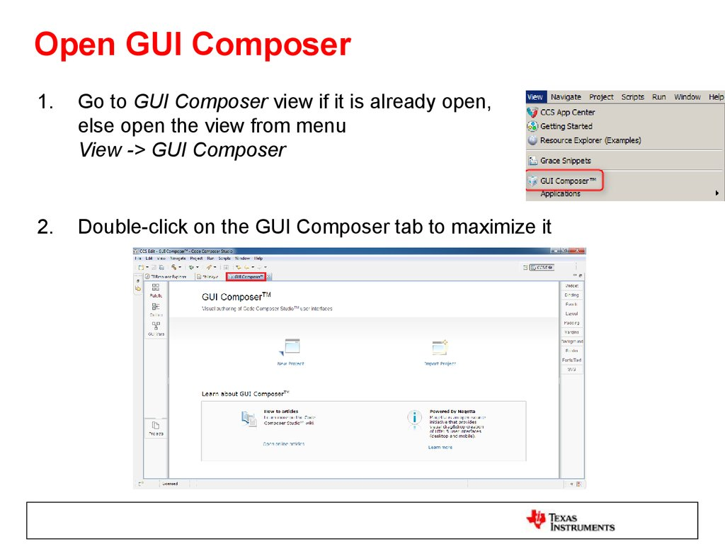 Open GUI Composer