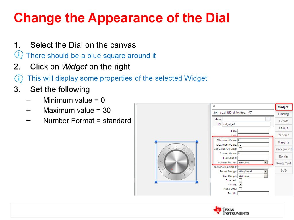 Change the Appearance of the Dial