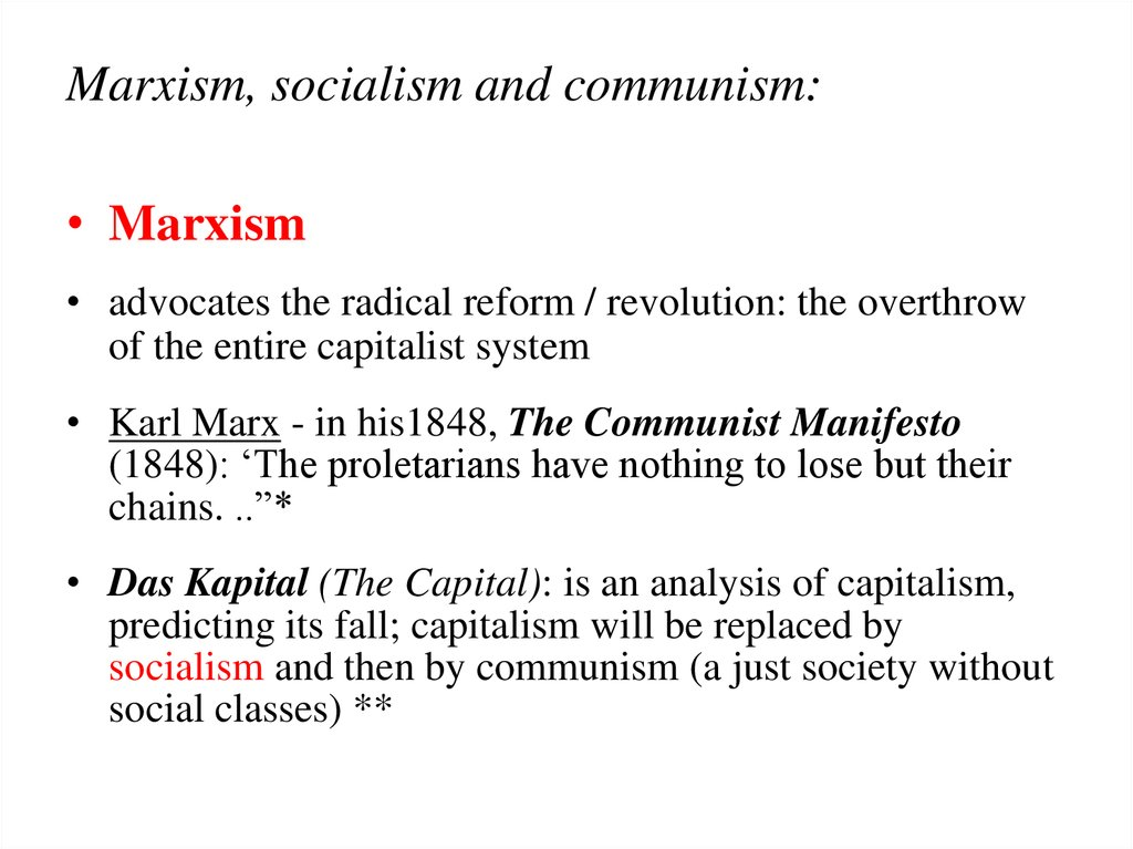 marxism socialist ideology essay Socialism is the antithesis of individualism, which gave birth, to the capitalistic system of society socialism came as a countering force against the injustice and incompetence of capitalism, which involved exploitation of peasants and workers by those who own the instruments of production the.