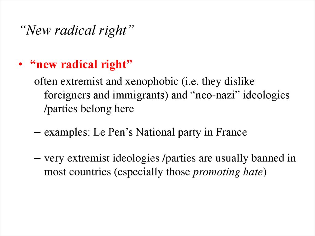 """New radical right"""