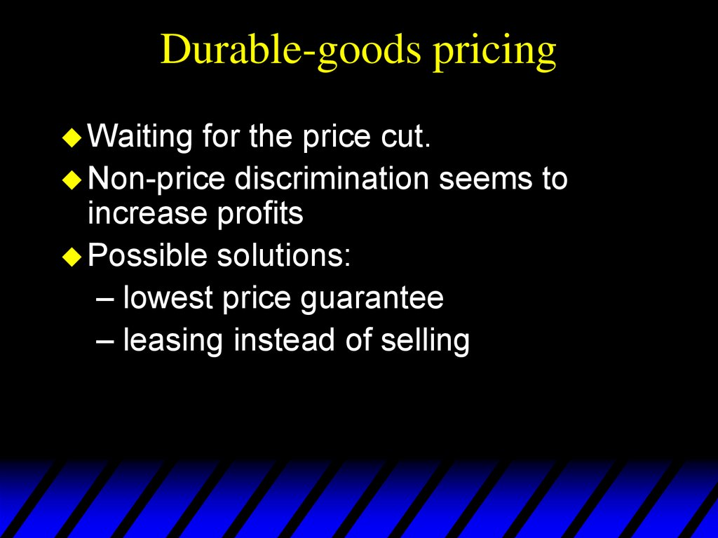 Durable-goods pricing
