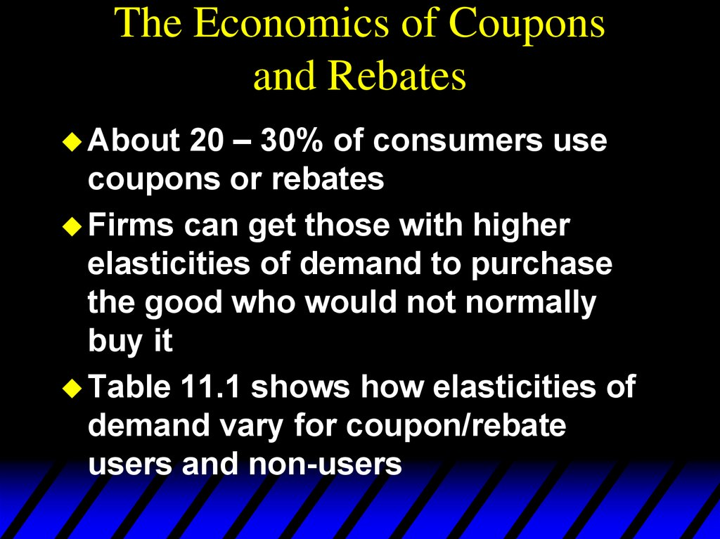 The Economics of Coupons and Rebates