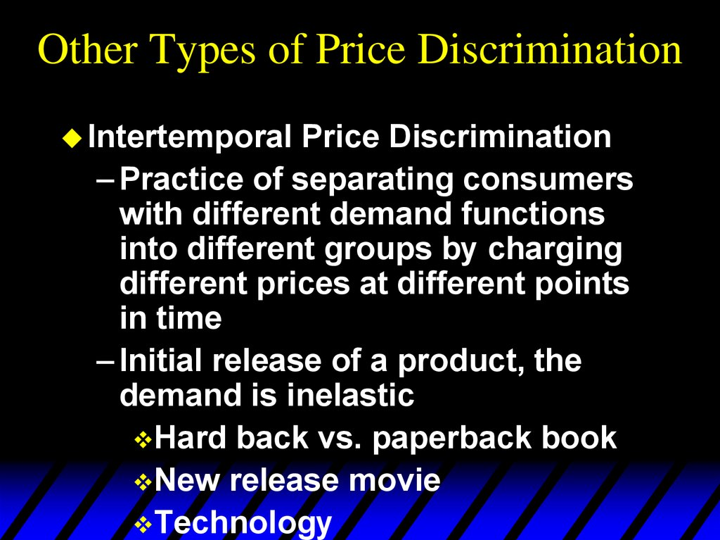 Other Types of Price Discrimination
