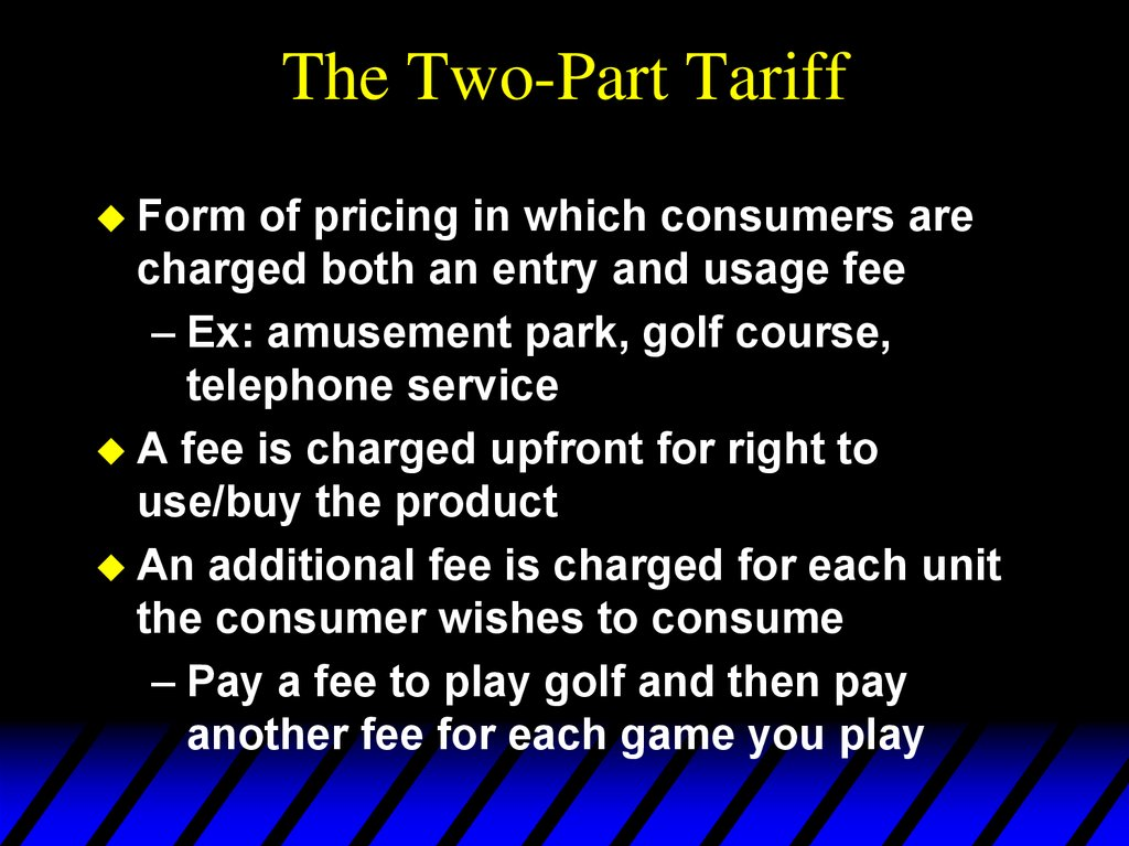The Two-Part Tariff