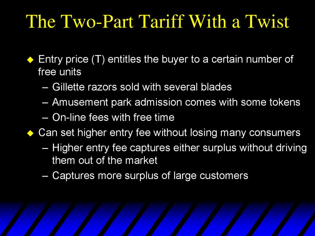 The Two-Part Tariff With a Twist