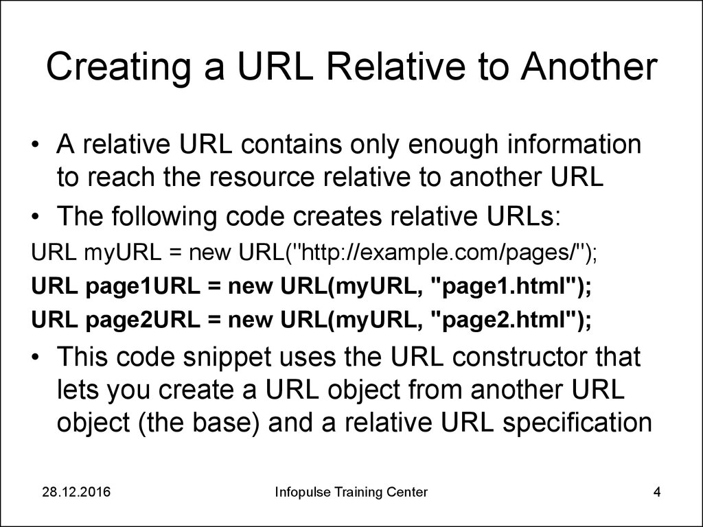 Creating a URL Relative to Another