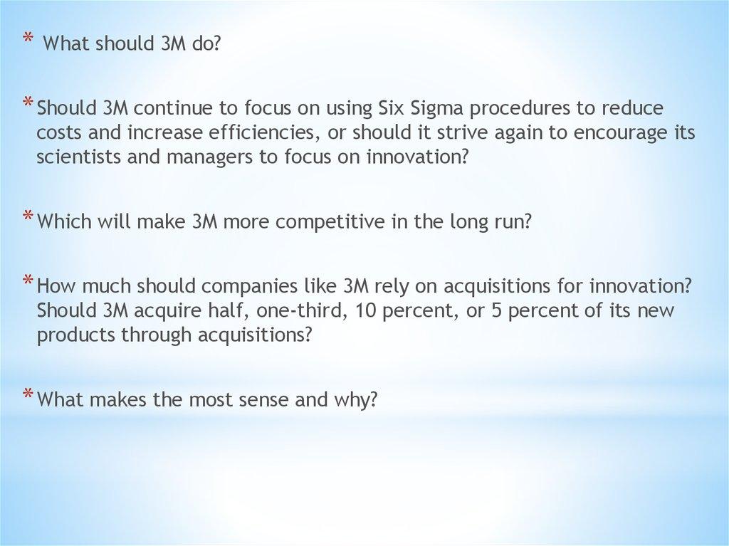 What should 3M do - online presentation