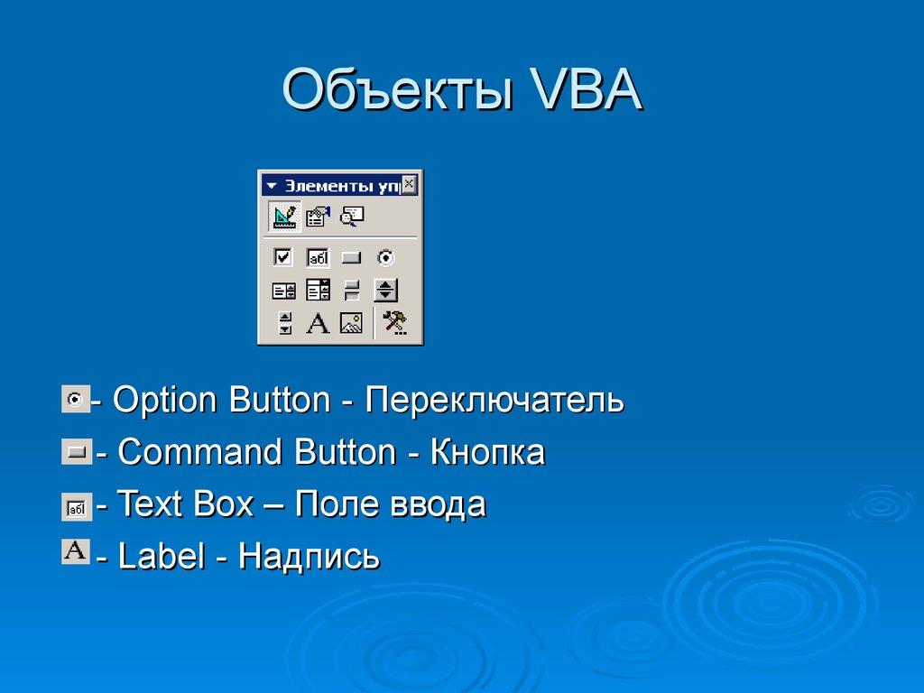 Курсовая работа по информатике Создание userform Калькулятор   Объекты vba