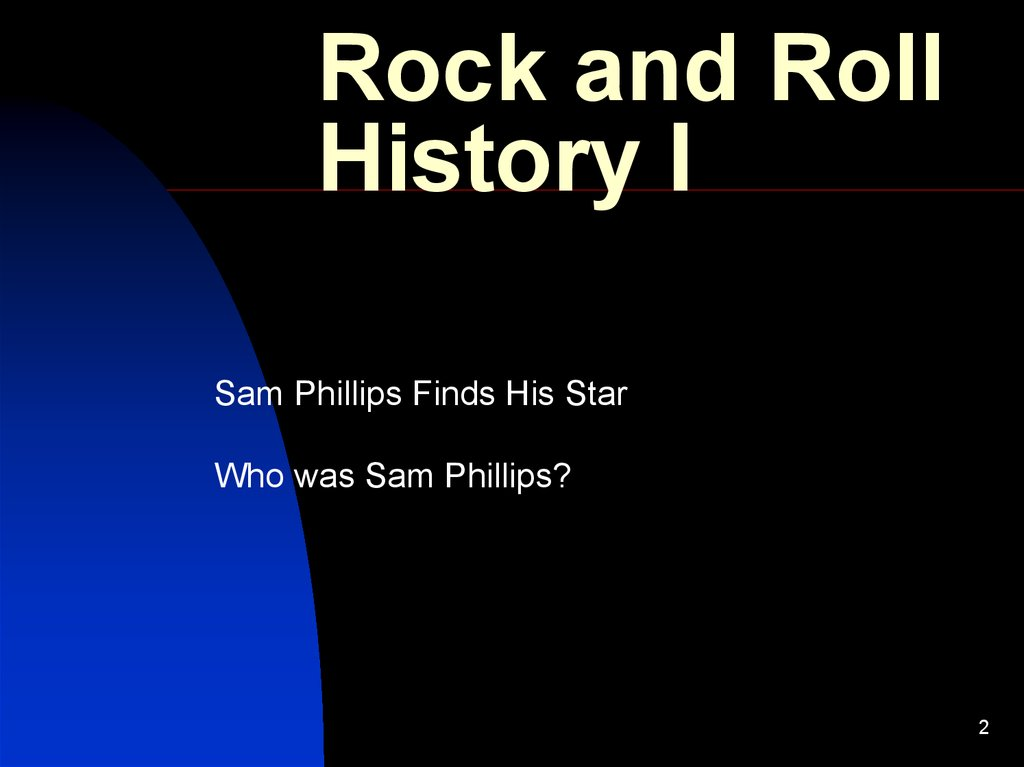 Rock and Roll History I