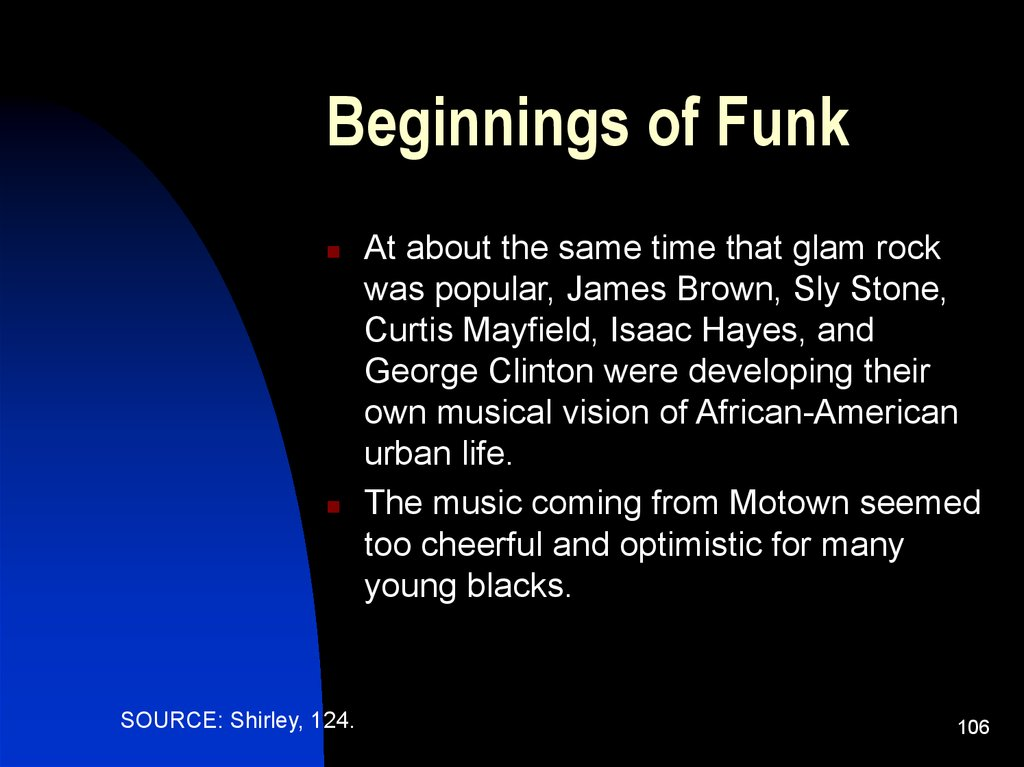 Beginnings of Funk