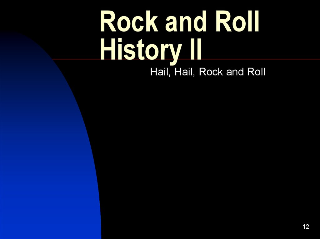 Rock and Roll History II