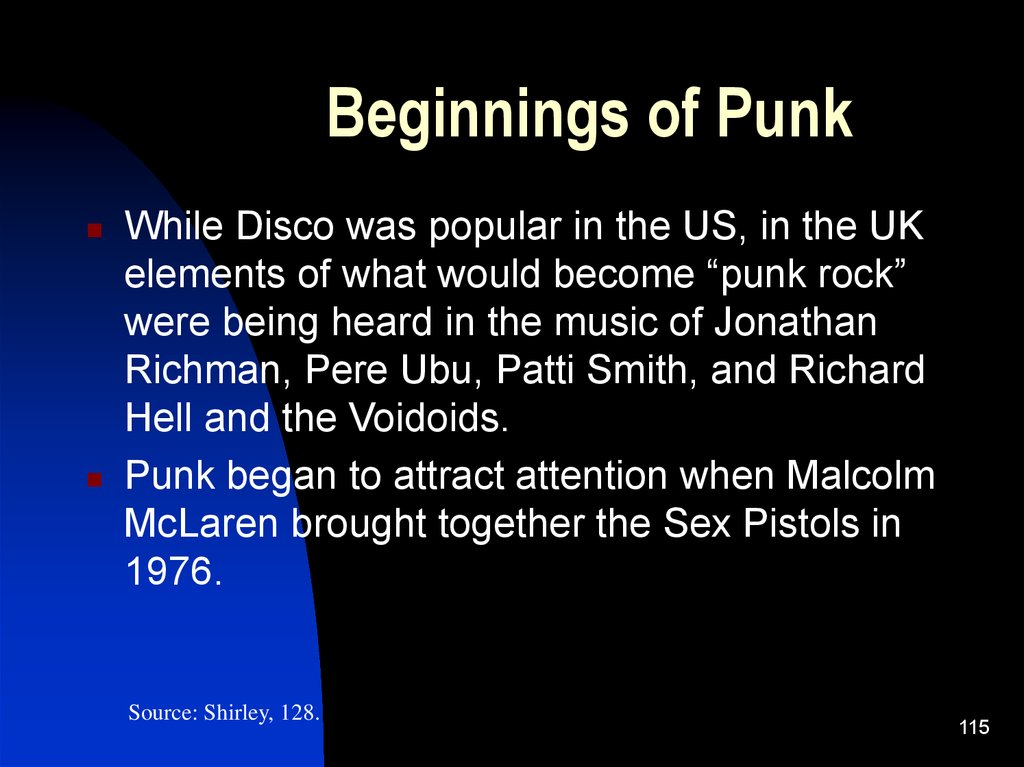 Beginnings of Punk