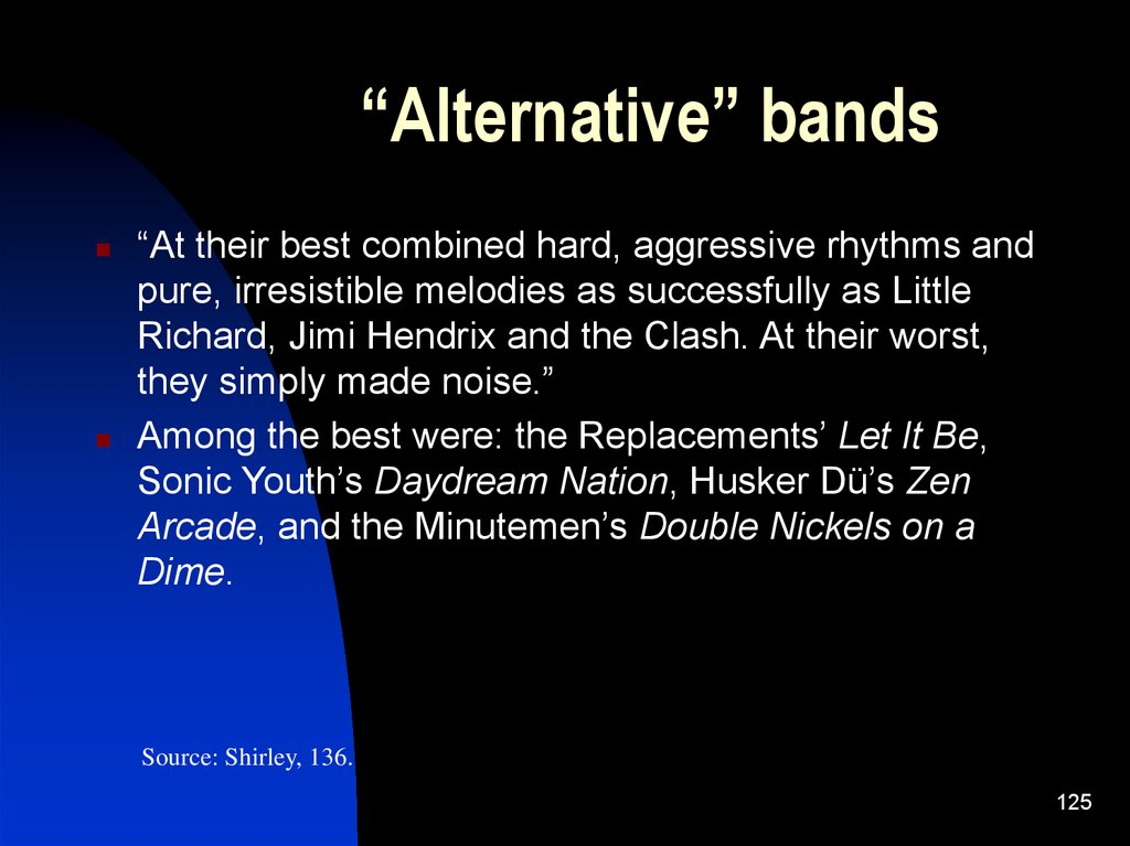 """Alternative"" bands"